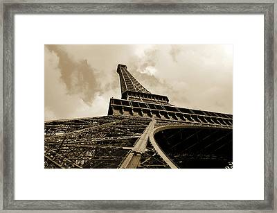 Eiffel Tower Paris France Black And White Framed Print by Patricia Awapara