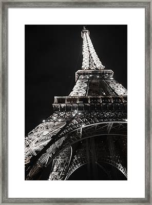 Eiffel Tower Paris France Night Lights Framed Print by Patricia Awapara