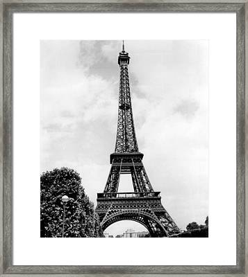 Eiffel Tower Reaches Upward. Framed Print by Retro Images Archive