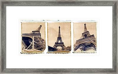 Eiffel Tower Framed Print by Tony Cordoza