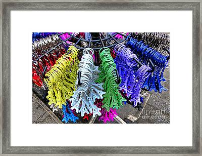 Eiffel Tower Trinkets Framed Print by Olivier Le Queinec