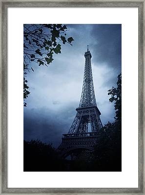 Eiffel Tower Framed Print by Cambion Art