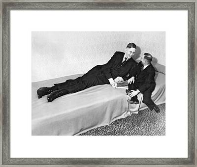Eight Feet, Seven Inches Tall Framed Print by Underwood Archives