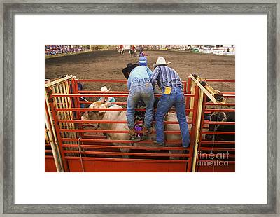 Rodeo Eight Seconds To Payday Framed Print by Bob Christopher