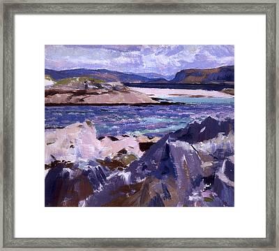 Eilean Annraidh From The North End Framed Print by Francis Campbell Boileau Cadell