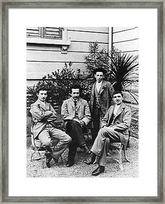 Einstein And Grossman Framed Print by Emilio Segre Visual Archives/american Institute Of Physics