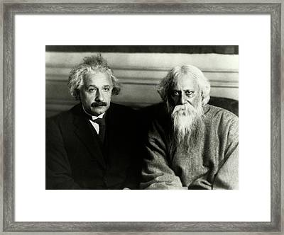 Einstein And Tagore Framed Print by Emilio Segre Visual Archives/american Institute Of Physics