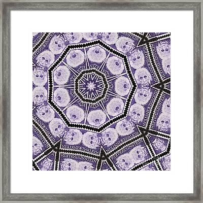 Einstein Mandala Framed Print by Andy Prendy
