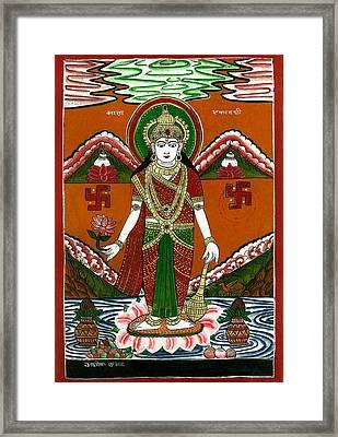 Ek Darshi Mata Vishnu Avatar Framed Print by Ashok Kumar