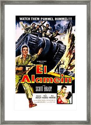 El Alamein, Us Poster, Scott Brady Framed Print by Everett