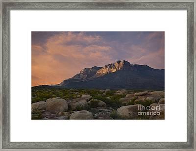 El Capitan Sunset Framed Print by Keith Kapple