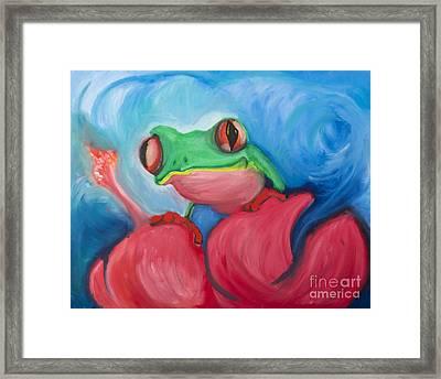 El Coqui Framed Print by Luis Velez