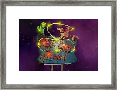 El Don Motel Framed Print by Larry  Page