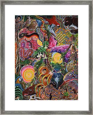 El Encanto De Las Piedras Framed Print by Pablo Amaringo