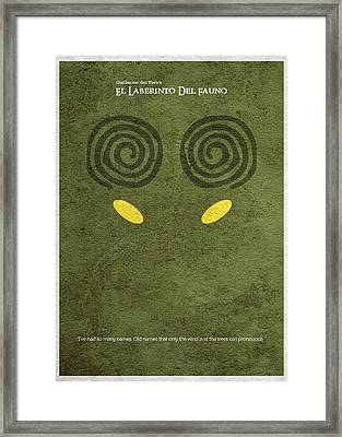 El Laberinto Del Fauno Framed Print by Ayse Deniz