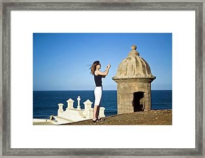 El Morro Fortress And Church Framed Print by Miva Stock