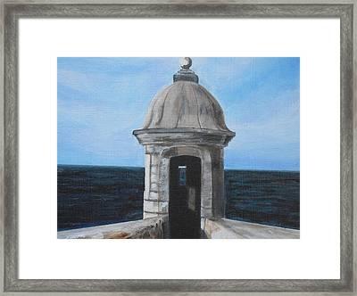 El Morro Framed Print by Melissa Torres