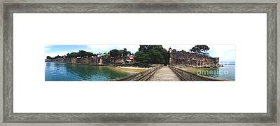 El Morro Park Framed Print by Carey Chen