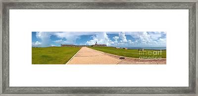 El Morro Walkway Framed Print by Carey Chen