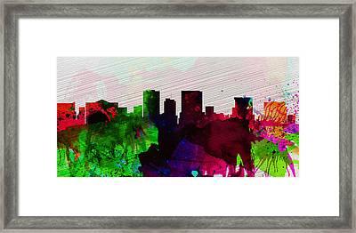 El Paseo City Skyline Framed Print by Naxart Studio