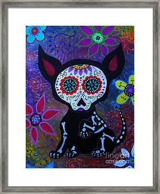 El Perrito Chihuahua Framed Print by Pristine Cartera Turkus