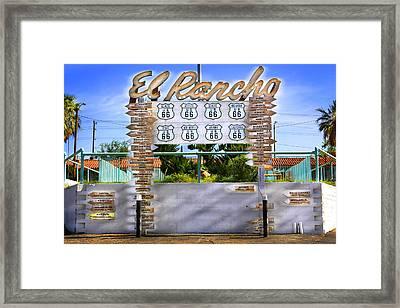 El Rancho Motel 2 - Barstow Framed Print by Mike McGlothlen