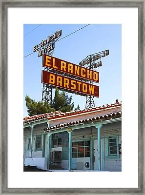 El Rancho Motel - Barstow Framed Print by Mike McGlothlen