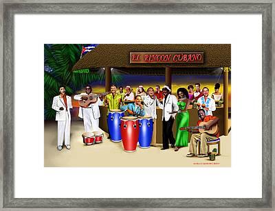 El Rincon Cubano Framed Print by Marlon Ramirez