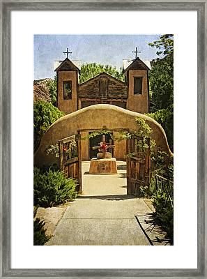 El Sanctuario De Chimayo Framed Print by Priscilla Burgers