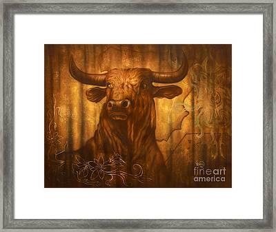 El Toro - The Pride Of Spain Framed Print by Rico Kohlstedt