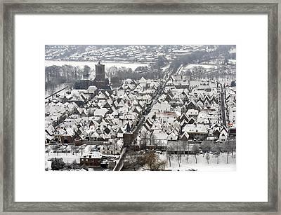 Elburg In Winter, Gelderland Framed Print by Bram van de Biezen