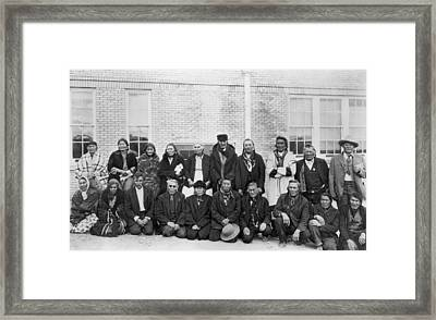 Elderly Students Start School Framed Print by Underwood Archives