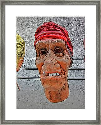 Elderly Woman Behind The Counter In A Small Town  Framed Print by Andy Za