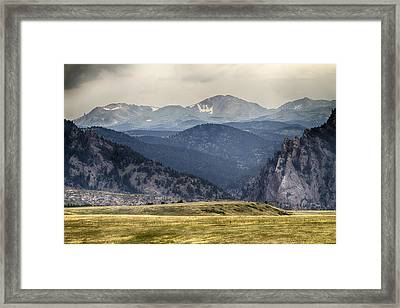 Eldorado Canyon And Continental Divide Above Framed Print by James BO  Insogna