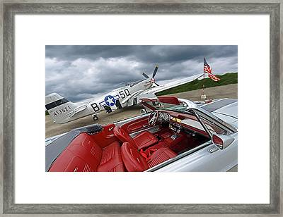 Eleanor Cockpit With P51 Mustang Framed Print by Gill Billington