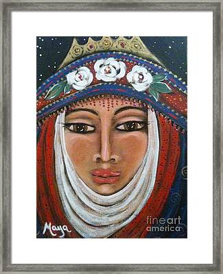 Eleanor Of Aquitaine The Lioness In Winter Framed Print by Maya Telford