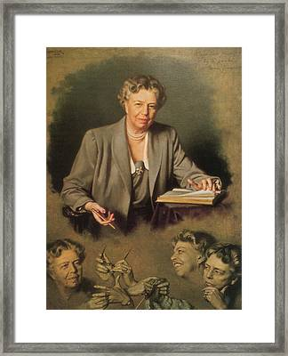 Eleanor Roosevelt, First Lady Framed Print by Science Source