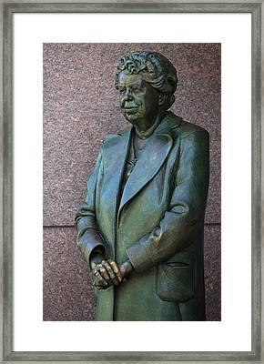 Eleanor Roosevelt Memorial Detail Framed Print by John Cardamone