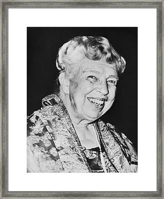 Eleanor Roosevelt Framed Print by Underwood Archives