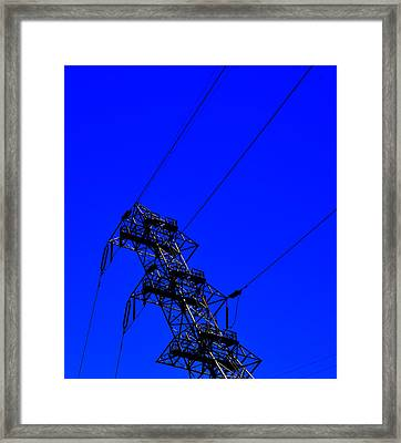 Electric Blue Framed Print by See My  Photos