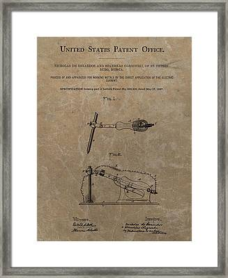 Electric Current Patent Framed Print by Dan Sproul