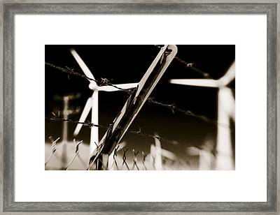 Electric Fence Duo Tone Framed Print by Scott Campbell