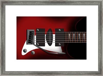 Electric Guitar Framed Print by Mark Ashkenazi