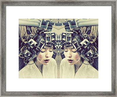 Electric Impression Framed Print by Starlux  Productions