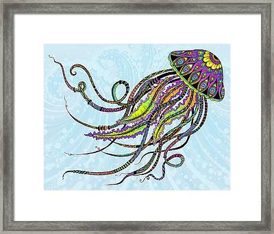 Electric Jellyfish Framed Print by Tammy Wetzel