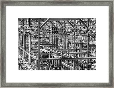 Electric Power Grid Framed Print by Jim Hughes