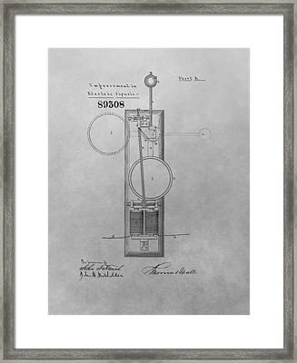 Electric Signal Patent Drawing Framed Print by Dan Sproul