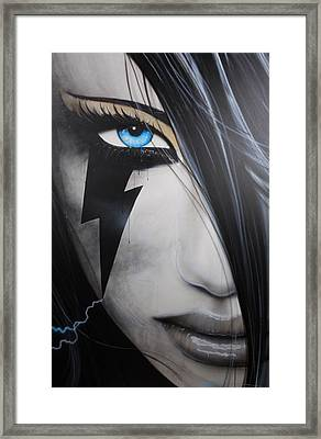 Portrait - ' Electric Sin ' Framed Print by Christian Chapman Art