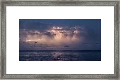 Electric Skys Framed Print by Brad Scott
