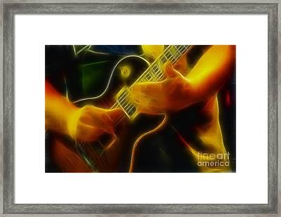 Electric Slide Fractal Framed Print by Gary Gingrich Galleries